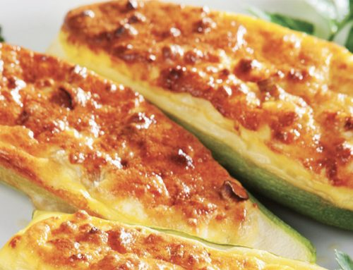 Baked Zucchini with Parmesan Cheese