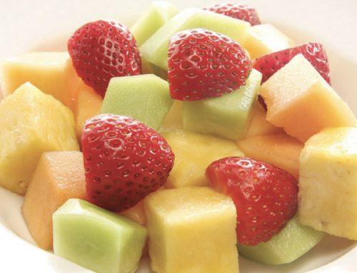 Cantaloupe, Pineapple & Strawberry Salad